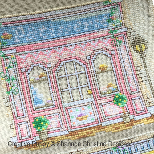 Parisian Shoppe Fronts cross stitch pattern by Shannon Christine Designs, zoom 3