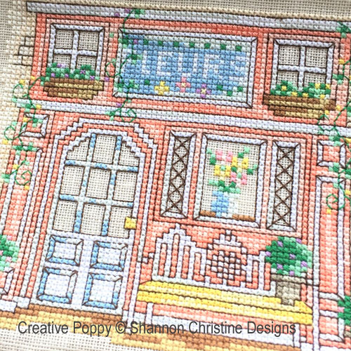 Parisian Shoppe Fronts cross stitch pattern by Shannon Christine Designs, zoom 1
