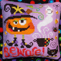Spooky companions (2 Halloween designs) - cross stitch pattern - by Barbara Ana Designs