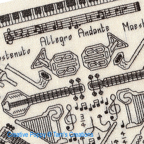 Music & Arts patterns to cross stitch