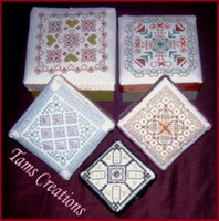 Beaded geometrics ( for boxes) - Blackwork  pattern - by Tam's Creations