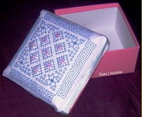 Beaded geometrics ( for boxes) - Blackwork  pattern - by Tam's Creations (zoom 1)
