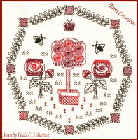 <b>Rose garden</b><br>Blackwork  pattern<br>by <b>Tam\'s Creations</b>