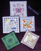 Beaded animal boxes - cross stitch pattern - by Tam's Creations