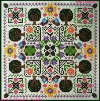 Floral Mandala - cross stitch pattern - by Tam's Creations