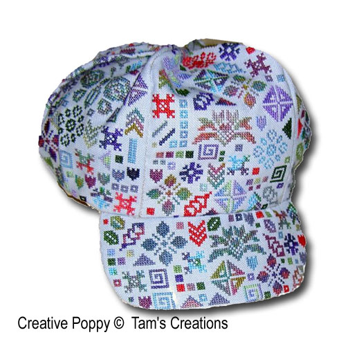 Celeano Baseball Cap cross stitch pattern by Tam's Creations