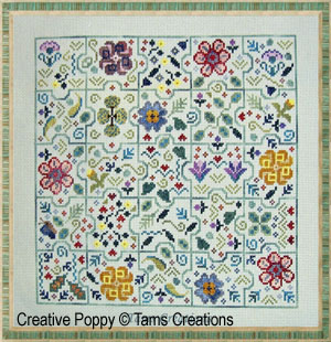 Odds and Ends Jigsaw puzzle cross stitch pattern by Tam's Creations