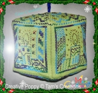 Tam's Creations - Christmas lantern Ornament (cross stitch chart)
