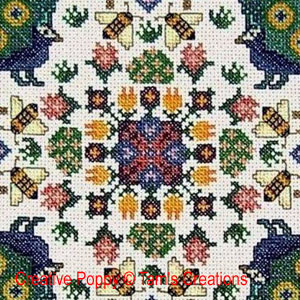 Peacock Mandala, cross stitch pattern by Tam's Creations
