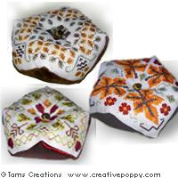 Autumn biscornus series - cross stitch pattern - by Tam's Creations