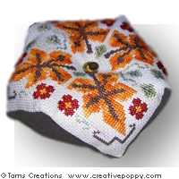 Autumn biscornus series - cross stitch pattern - by Tam's Creations (zoom 1)