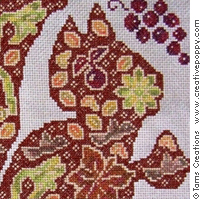 Autumn Squirrel - cross stitch pattern - by Tam's Creations (zoom 1)