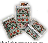Granny's handbag set - cross stitch pattern - by Tam's Creations