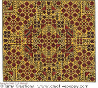 Magic carpet - cross stitch pattern - by Tam's Creations