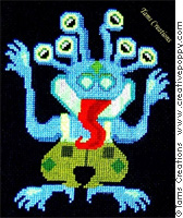 Wacky Boo Monster cross stitch pattern by Tam's Creations