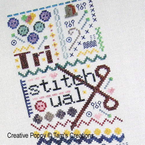 TriStitchual cross stitch pattern by Tam's Creations