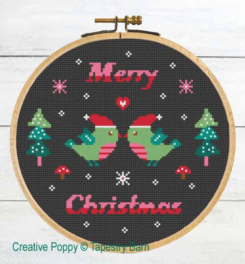 Tapestry Barn - Christmas birds (cross stitch chart)