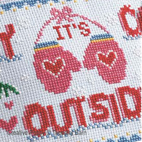 Cold Outside (Hottie cover) cross stitch pattern by Tapestry Barn, zoom 1