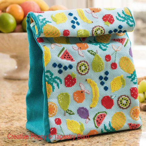 Fruity Lunch Bag cross stitch pattern by Tapestry Barn