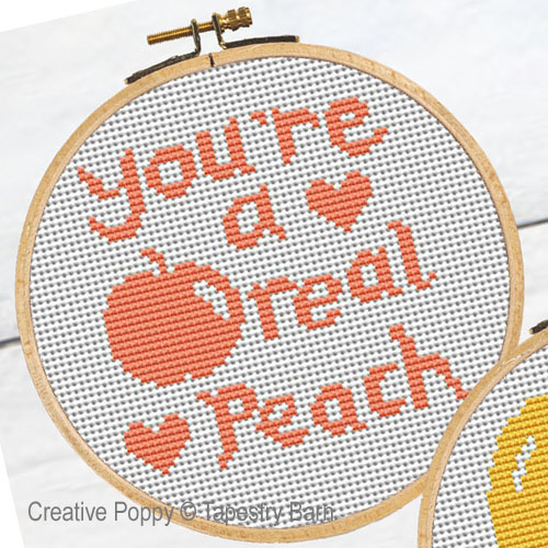 Fruity Hoops - Love Quotes cross stitch pattern by Tapestry Barn