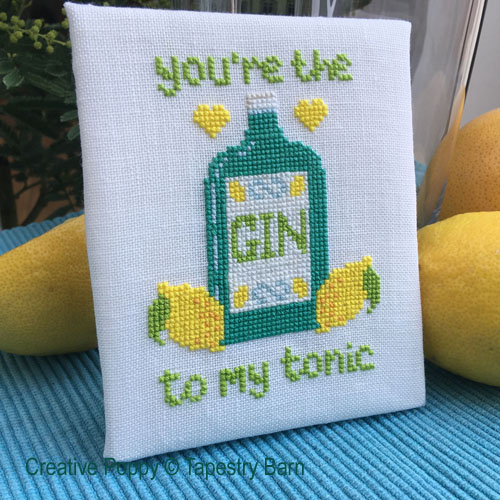 Gin & Tonic - Love Quote cross stitch pattern by Tapestry Barn