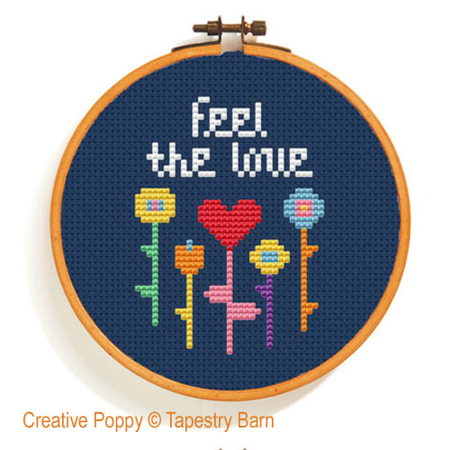 Happy Days - Mini Hoop Trio cross stitch pattern by Tapestry Barn