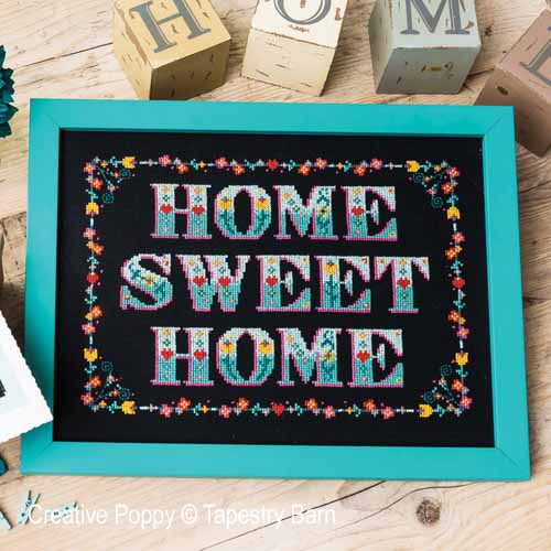 Home Sweet Home (Folk Art) cross stitch pattern by Tapestry Barn