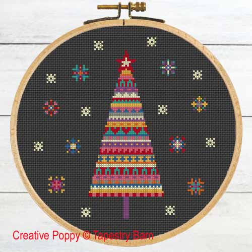 Tapestry Barn - Merry Bright Christmas Tree (cross stitch chart)