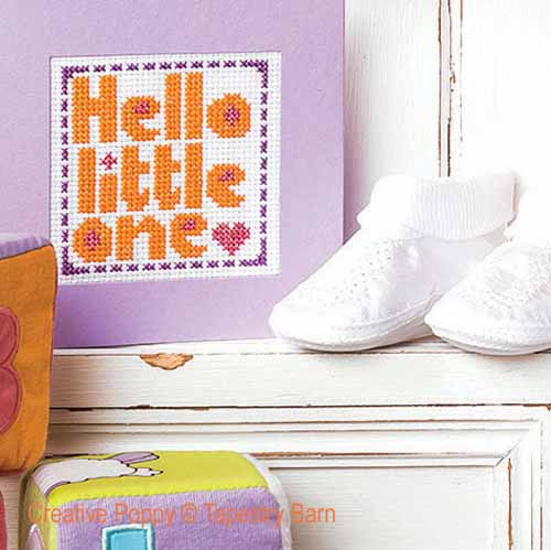 New Baby cards cross stitch pattern by Tapestry Barn