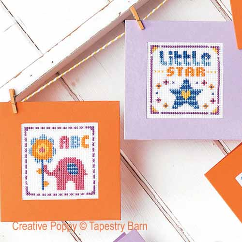 New Baby cards cross stitch pattern by Tapestry Barn, zoom2
