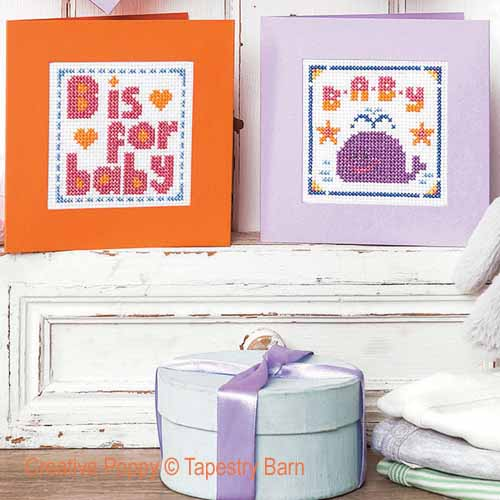 New Baby cards cross stitch pattern by Tapestry Barn, zoom3