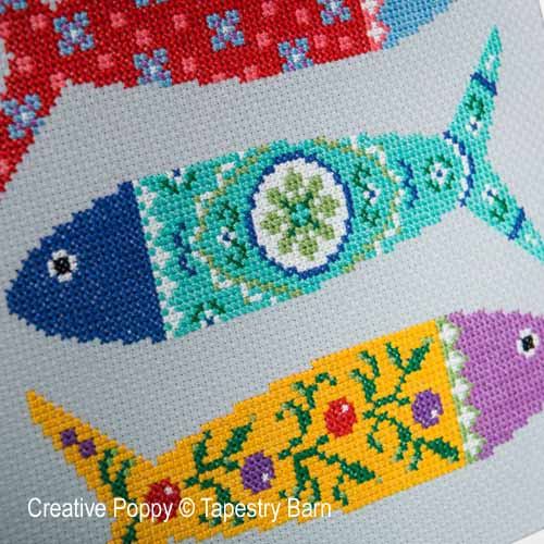 Portuguese Fish cross stitch pattern by Tapestry Barn, zoom2