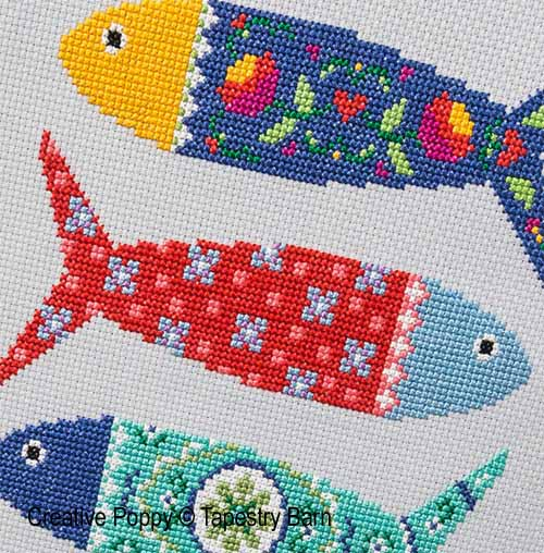 Portuguese Fish cross stitch pattern by Tapestry Barn, zoom4