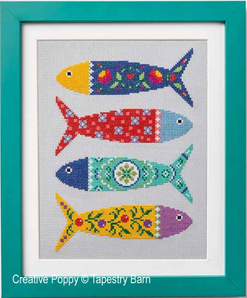 Portuguese Fish cross stitch pattern by Tapestry Barn