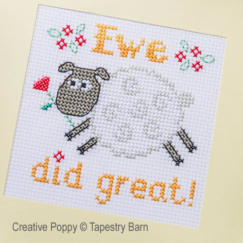 Pun-tastic Greeting cards cross stitch pattern by Tapestry Barn, zoom4