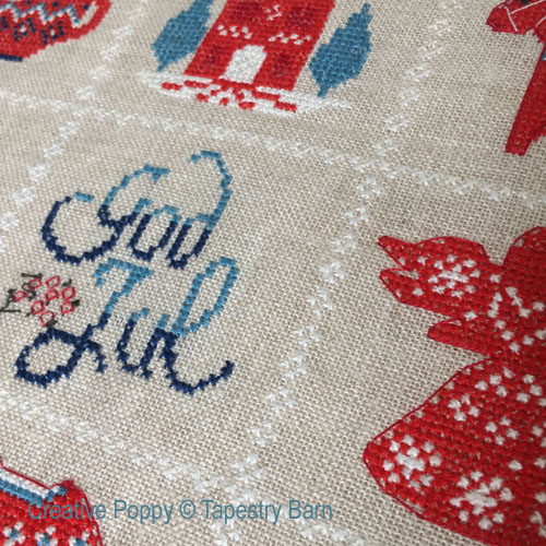 Scandinavian Christmas Sampler cross stitch pattern by Tapestry Barn, zoom 1