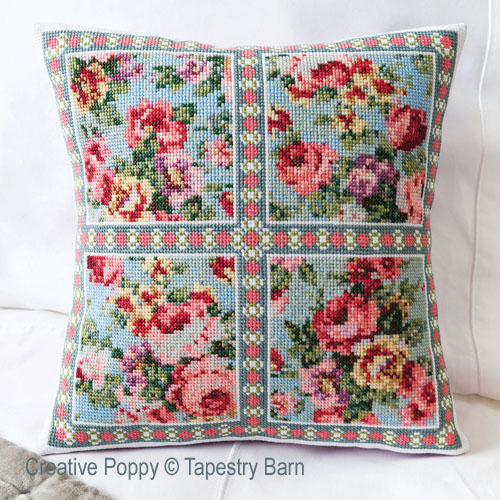 Vintage Roses - Summer Cushion cross stitch pattern by Tapestry Barn