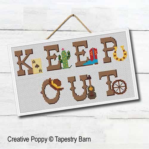 126f5faa77877 Tapestry Barn - Wild West - Cowboy ABC zoom 4 (cross stitch chart)