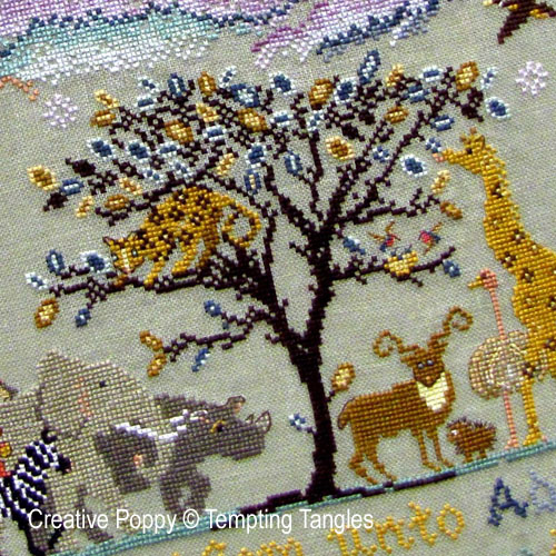 savannah and jungle animals patterns to cross stitch