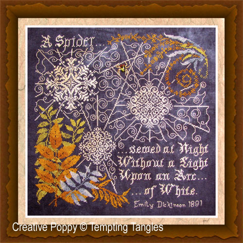 Tempting Tangles - Arc of White (cross stitch chart)