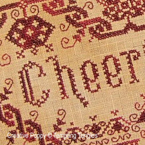 Cheerful up Valentine cross stitch pattern by Tempting Tangles, zoom 1