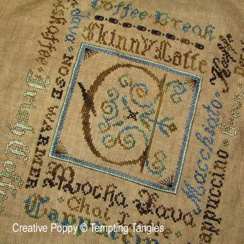 Tempting Tangles - Classic Coffee Break zoom 1 (cross stitch chart)