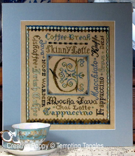 Classic Coffee Break, a cross stitch pattern designed by Tempting Tangles
