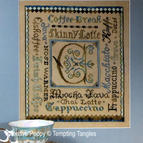 Tempting Tangles - Classic Coffee Break (cross stitch pattern)