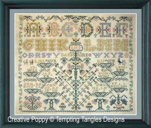 Ancestral Tree cross stitch pattern by Tempting Tangles Designs