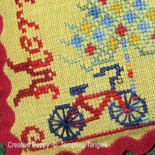 Merry Christmas with Love cross stitch pattern by Tempting Tangles, zoom 1