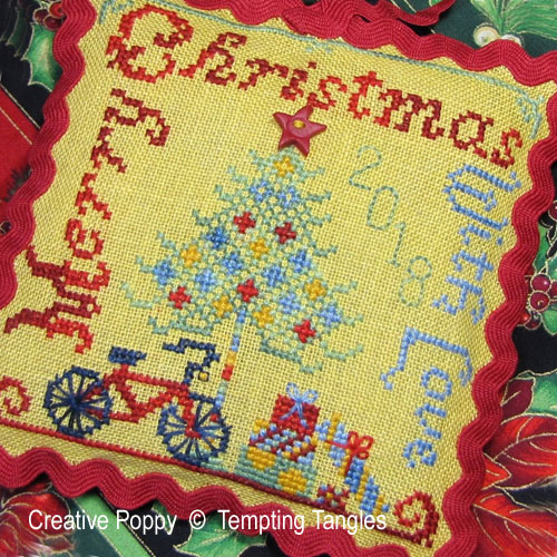 Merry Christmas with Love cross stitch pattern by Tempting Tangles