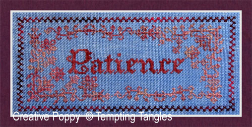 Patience cross stitch pattern by Tempting Tangles