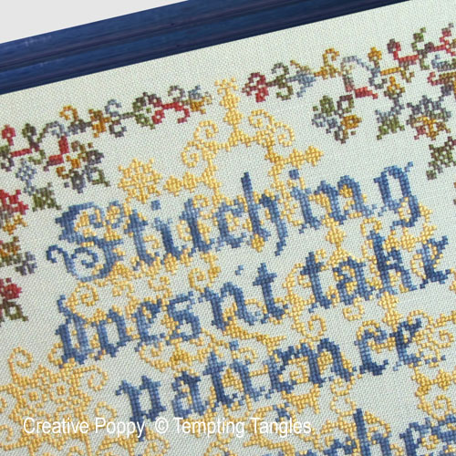 Patient Stitcher cross stitch pattern by Tempting Tangles, zoom 1