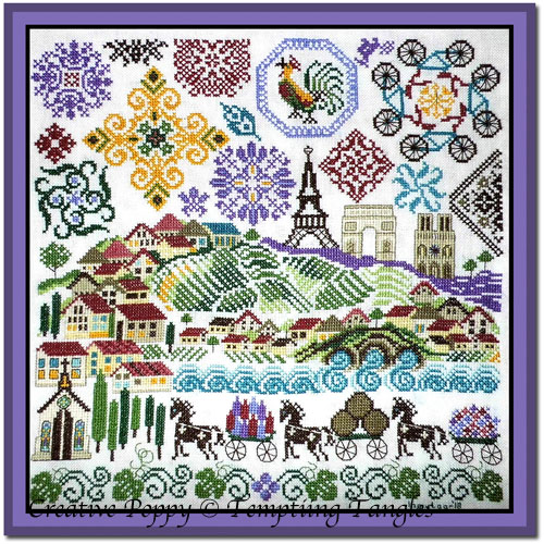 Quakers in France cross stitch pattern by Tempting Tangles